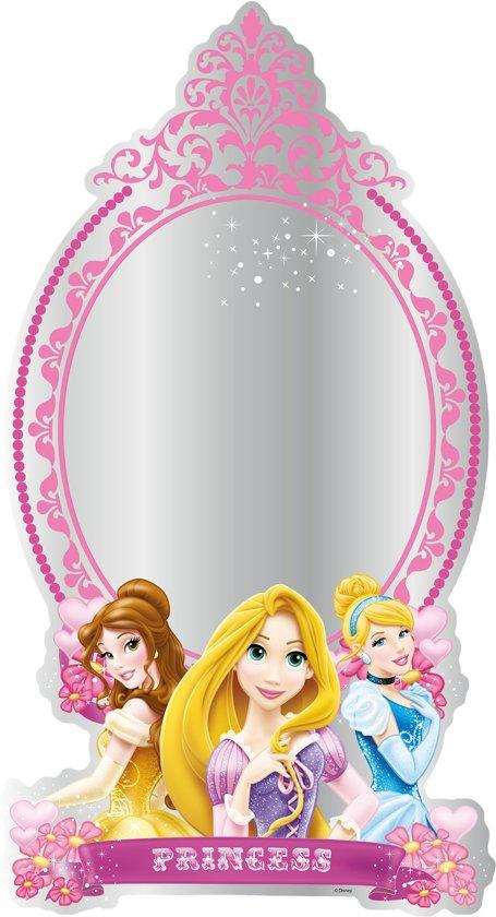 Disney Prinses - Spiegel - Roze/geel - 30x50 cm