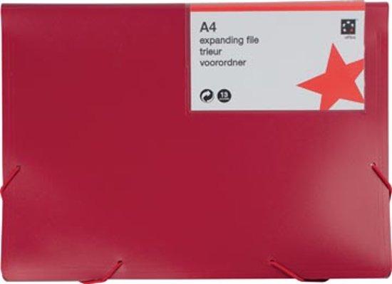 5 Star voorordner formaat A4  rood 13 vakken