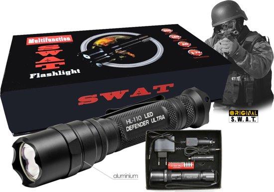 SWAT HL-110 Ultra LED - Zaklamp - Black Defender Series