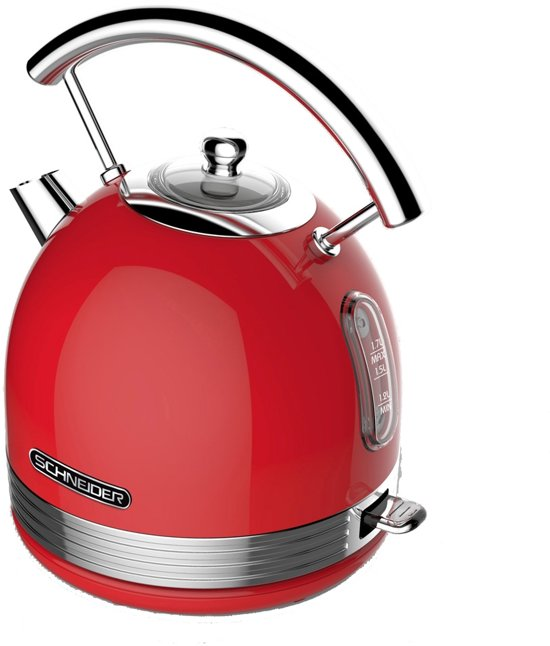Schneider SL W2 FR Retro Waterkoker Fire Red