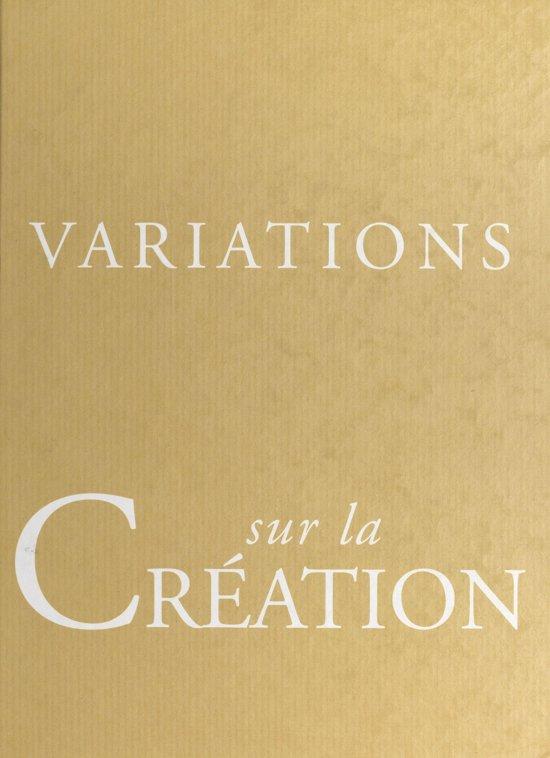 Boek cover Variations sur la création van Jean Bernard (Onbekend)