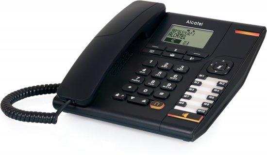 ALCATEL Temporis 880 Analoge telefoon met NUMMERHERKENNING en 170 GEHEUGENS Zwart