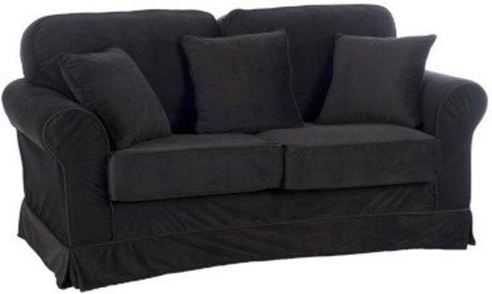 Duverger Velvet - Sofa - 2-zitbank -fluweel - zwart - kussens