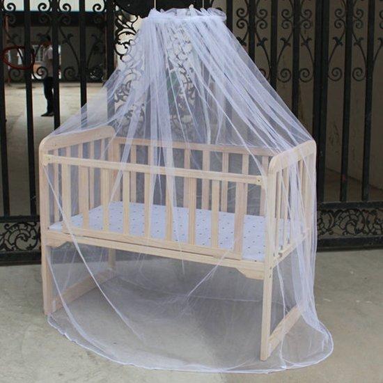 Hemel Klamboe Voor Ledikant - Baby Kinderbed - Standaard 1 Persoons Babybed Kinderledikant - Kinderkamer / Babykamer Muskietnet Hemeltje - Wit