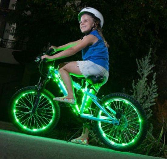 ikzilight fietswielverlichting 2x20 led groen