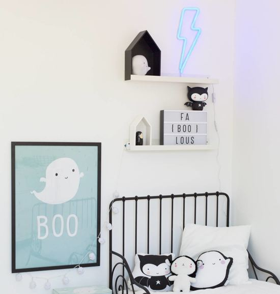 A Little Lovely Company Neon Wandlamp Bliksem - Blauw