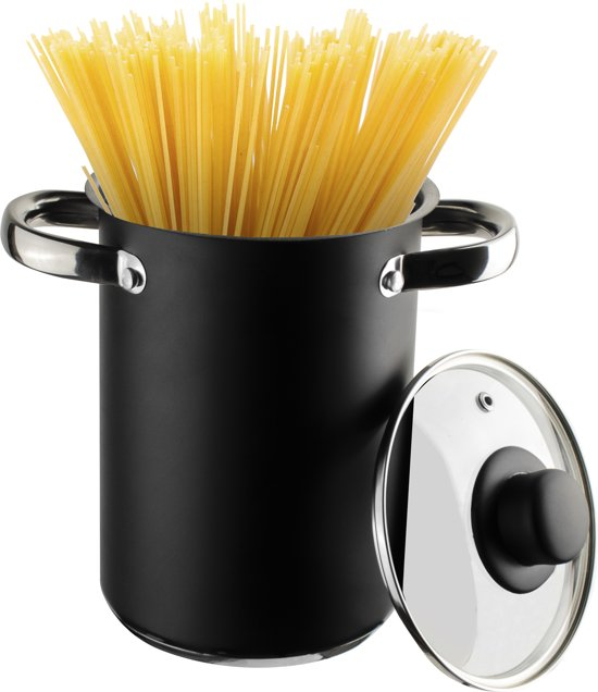 Gusta asperge-Spaghettipan zwart 4 liter