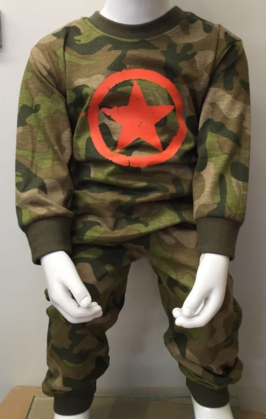Fun2wear Pyjama ARMY Groen maat 80