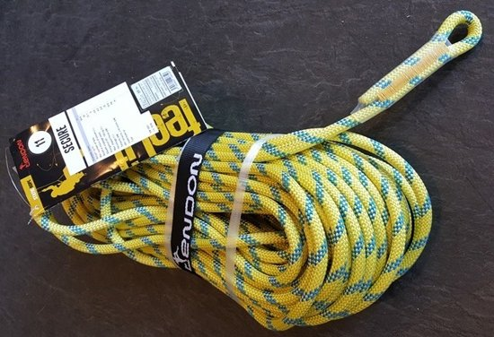 Tendon Static SECURE 11 mm, 1 x aangenaaid oog 10 meter.