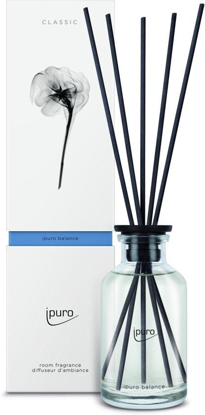 ipuro classic line balance geurverspreider Glas, Kunststof Zwart, Transparant Geurfles