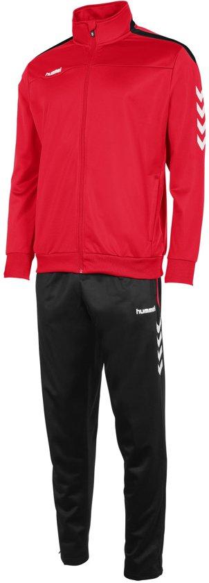 hummel Valencia Polyester Suit Trainingspak Heren - Red/Black
