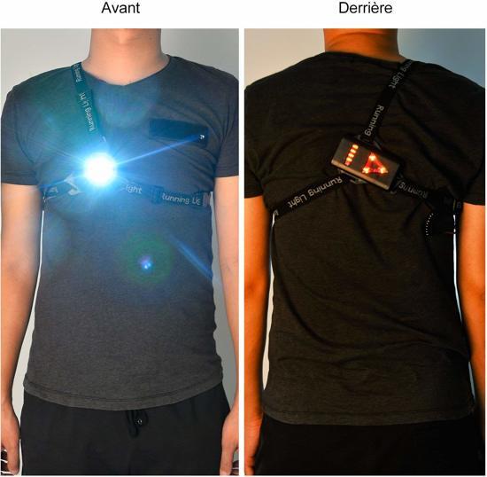 BÖR® - LED hardlopen fietsen wit voor / rood achter / oplaadbaar / zeer hoge lichtsterkte