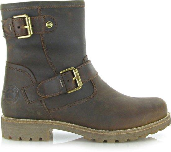 scheiding schoenen outlet te koop eerste klas Panama Jack Dames Biker Boots Felina B5 - Bruin - Maat 37