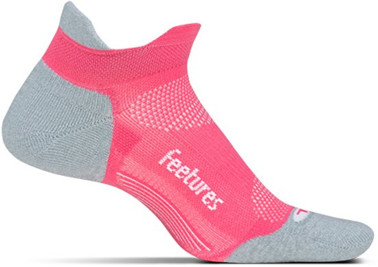 Feetures Elite Light Cushion No Show Tab - Coral - Hardloopsokken - Sportsokken - Small - 34/37
