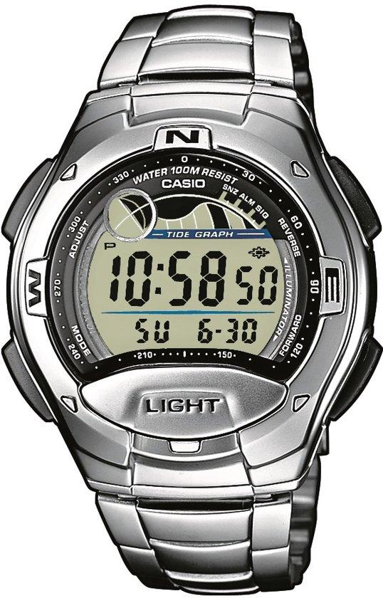 Casio W-753D-1AVES - Horloge - Staal - Zilverkleurig - Ø 41 mm