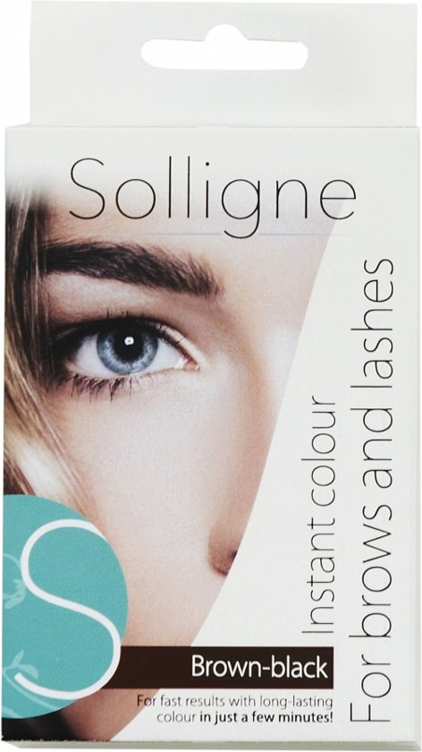 Solligne Instant Colour - Brown-Black - 6 ml - Wenkbrauw- en wimperverf