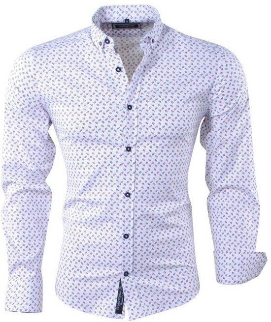 Overhemd Wit Slim Fit.Bol Com Carisma Heren Overhemd Met Trendy Design Slim Fit