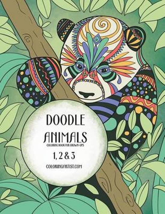 Doodle Animals Coloring Book for Grown-Ups 1, 2 & 3