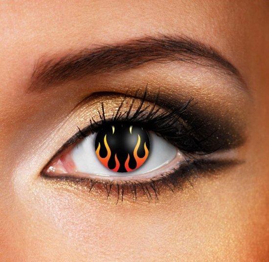 Kleurlenzen Hells Flame | Vlammen | Vuur | Carnaval | Halloween | Party | Enge Crazy Funlens