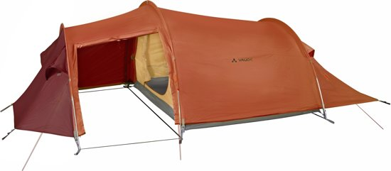 VAUDE Arco XT Tunneltent - 3-Persoons - rood