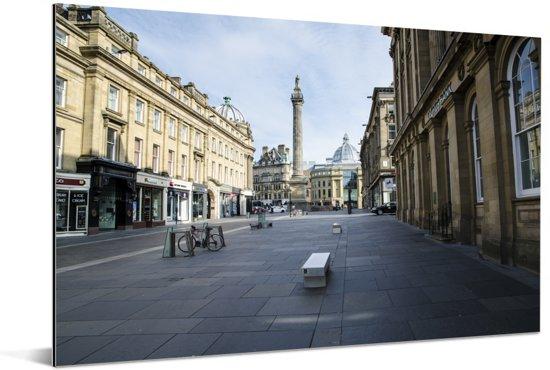 Grainger Town is het historische centrum van Newcastle-upon-Tyne Engeland Aluminium 120x80 cm - Foto print op Aluminium (metaal wanddecoratie)