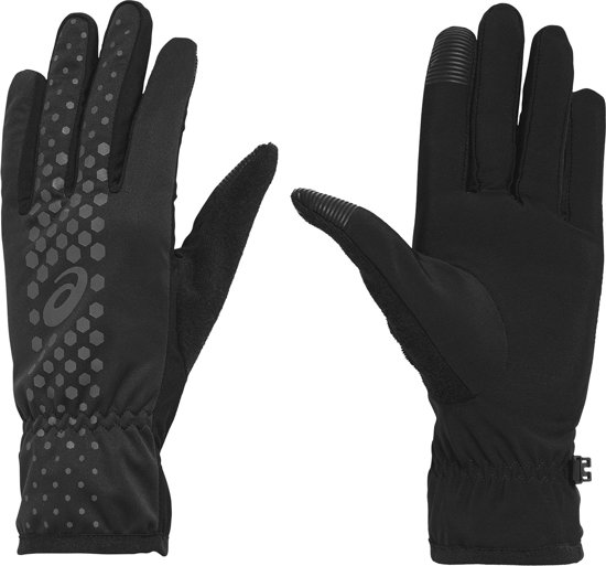 Asics Winter Performance Hardloop Handschoenen Hardloophandschoenen - Unisex - zwart/zilver