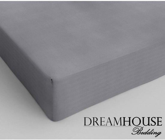 Dreamhouse Bedding - Hoeslaken - Katoen - 180x220 cm - Grijs