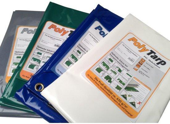 Afdekzeil |Dekzeil | Vrachtwagenzeil | Bache | PVC-650 | 6x12 Wit