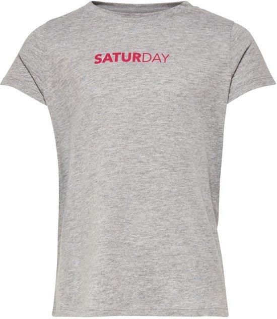 6410cc90 bol.com   Kids Only t-shirt meisjes - grijs - KONsound - maat 146/152