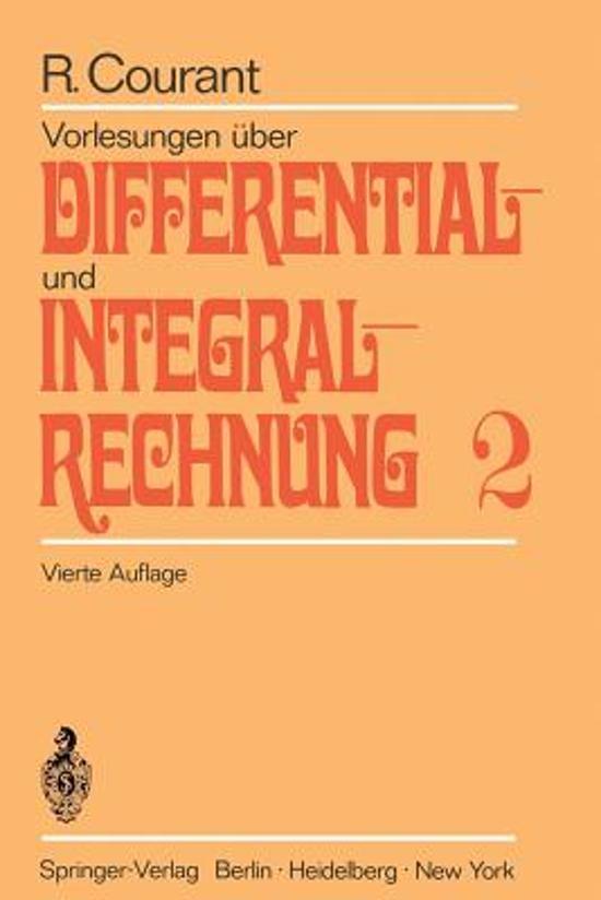 Vorlesungen ber Differential- Und Integralrechnung
