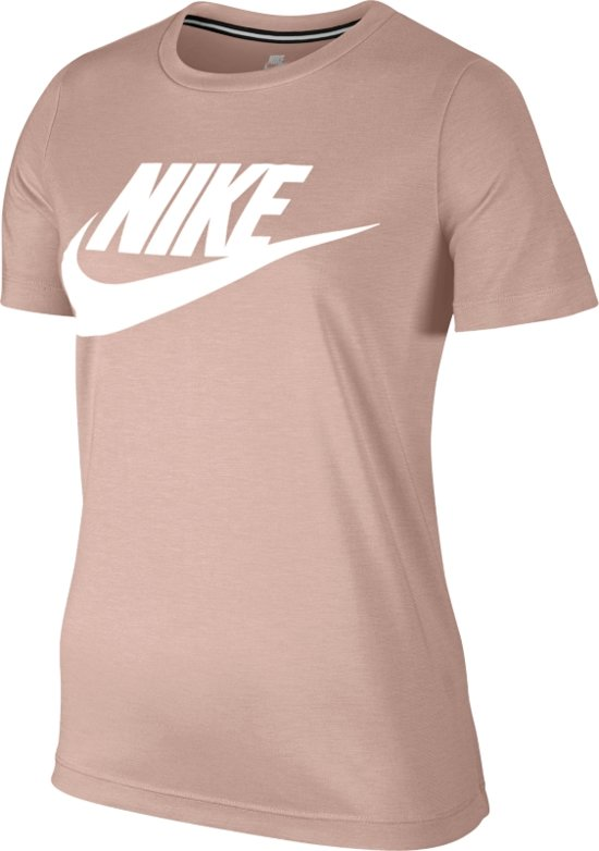 newest collection 443ce 8f169 Nike Sportswear Essential Tee Hybrid - Sportshirt - Dames - Maat M - Zacht  roze