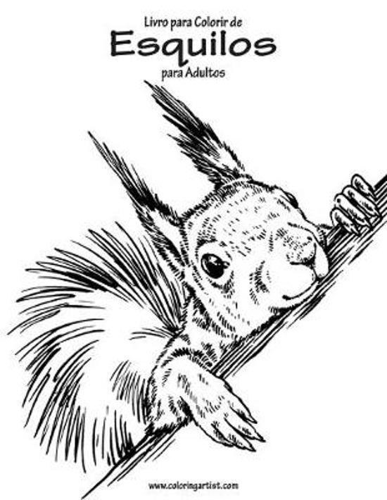 Livro para Colorir de Esquilos para Adultos