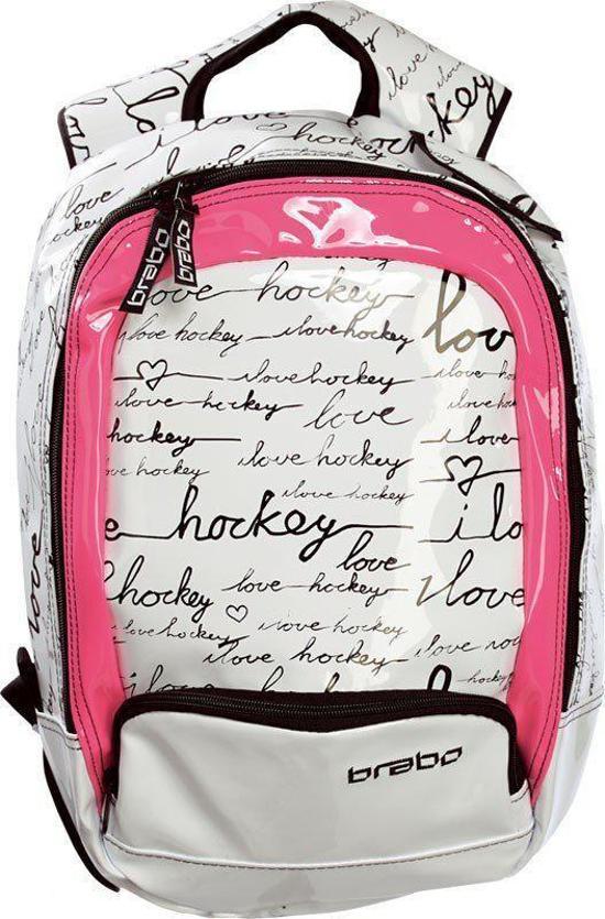 3c936be35e2 bol.com | Brabo JR Backpack I Love Hockey Zwart/Wit