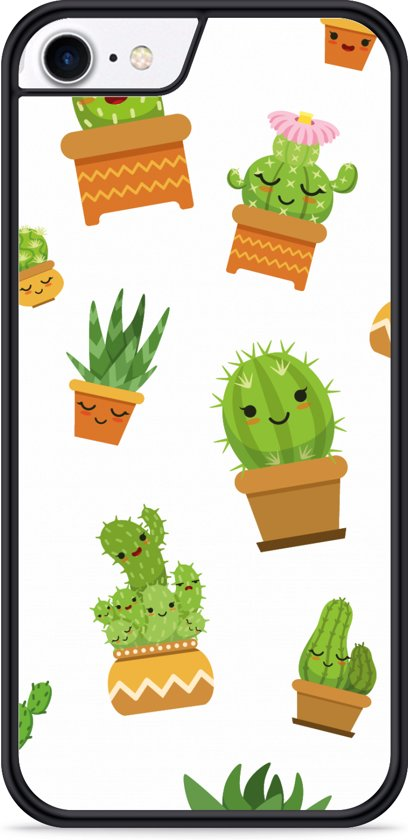 iPhone 8 Hardcase hoesje Happy Cactus