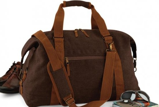 Bagbase Vintage canvas weekender, Vintage Brown