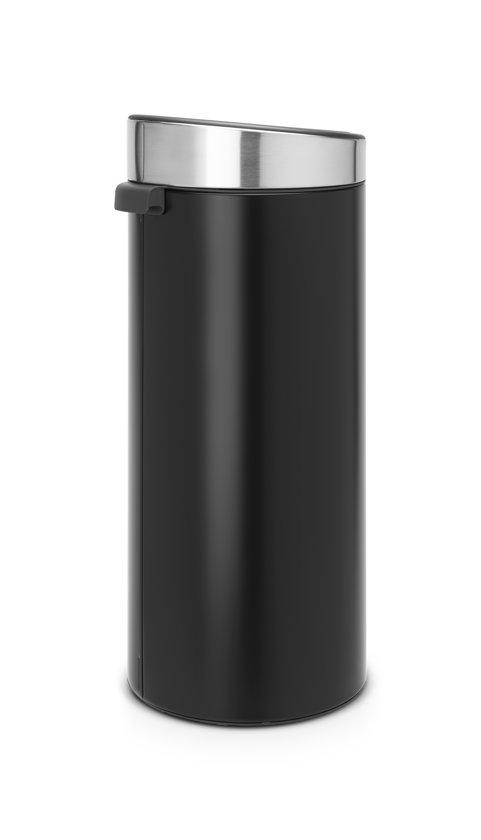 Brabantia Touch Bin 30 Liter Black RVS
