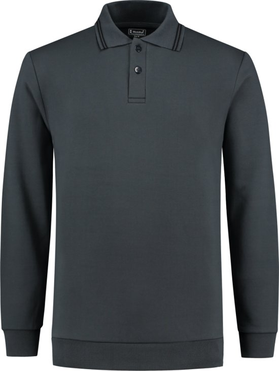 Workman Polosweater Outfitters - 9374 graphite - Maat 5XL