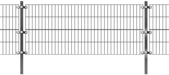 vidaXL Omheiningspaneel met palen 6x0.8 m antraciet