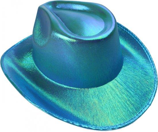 Lg-imports Cowboyhoed Glans Unisex One Size Blauw