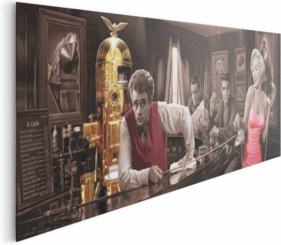 Bolcom Dean Monroe Bogart Presley Schilderij 156 X 52 Cm