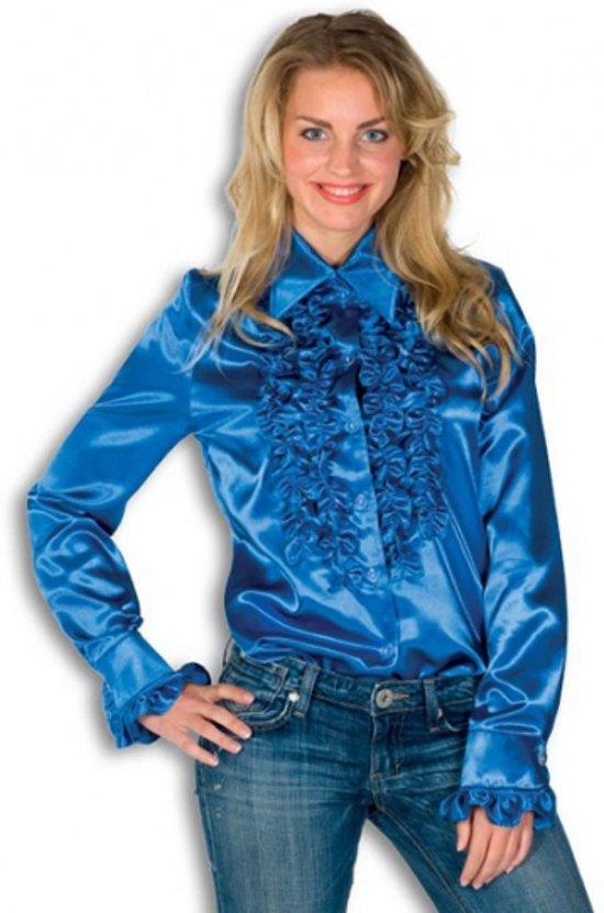 blauw overhemd dames