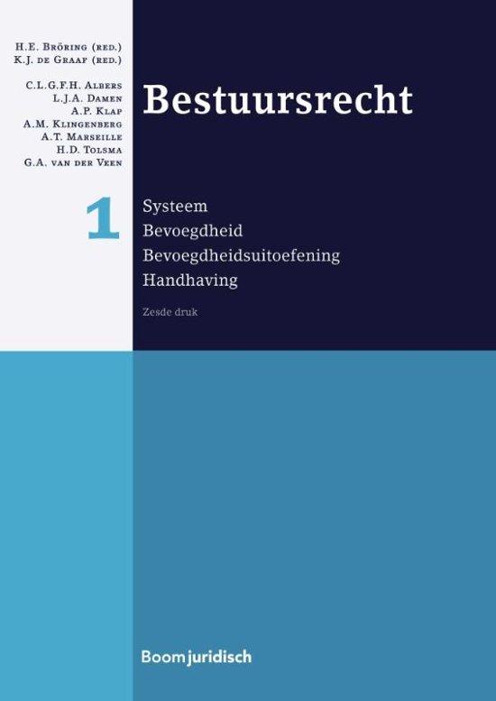 Boek cover Boom Juridische studieboeken - Bestuursrecht 1 Systeem; bevoegdheid; bevoegdheidsuitoefening; handhaving van L.J.A. Damen (Hardcover)