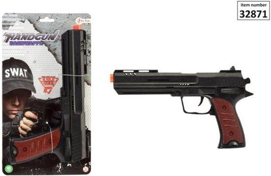 Toi-toys Handgun Ratelpistool 30 Cm Zwart