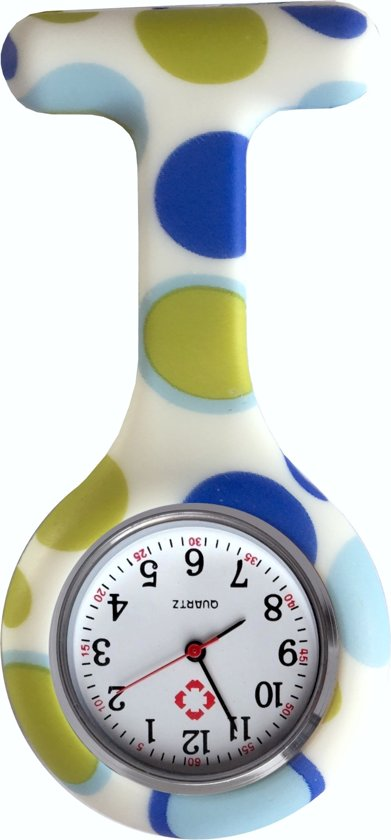 Fako® - Verpleegstershorloge - Zusterhorloge - Siliconen Print - Bubbels Blauw