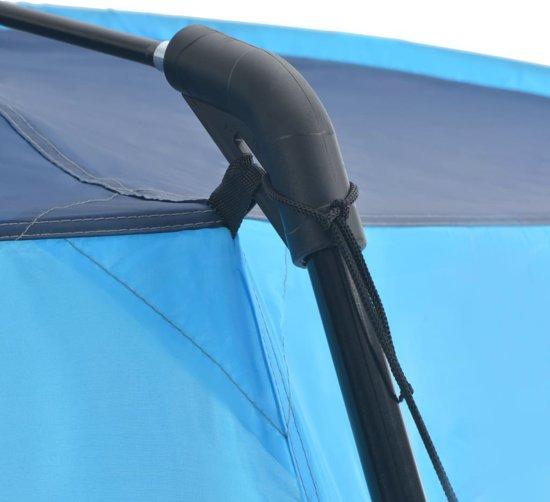 vidaXL Zwembadtent 660x580x250 cm stof blauw
