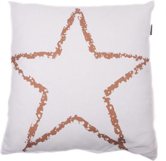 In The Mood Star Copper - Sierkussen - 50x50 cm - Ivoor Wit Valentinaa