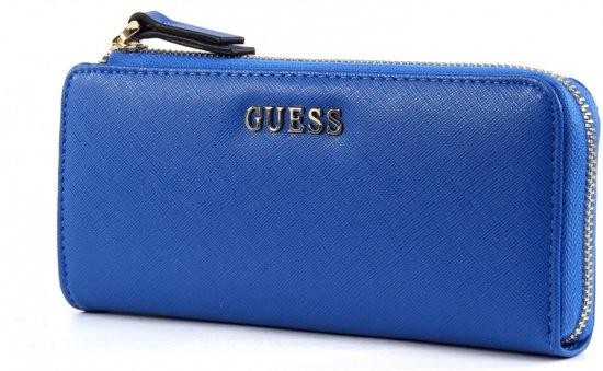 e41e9eca2a8 bol.com   Guess Portemonnee Sissi Zip It Up Wallet Blue SWSISSP6293BLU