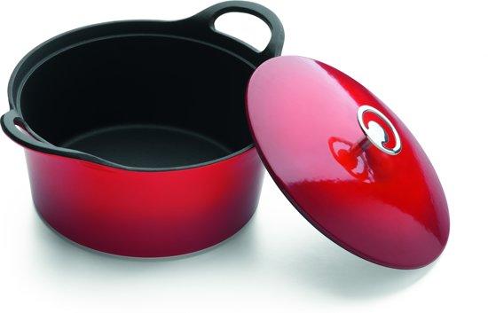 Cuisinox gietijzeren braadpan rood Ø 24cm