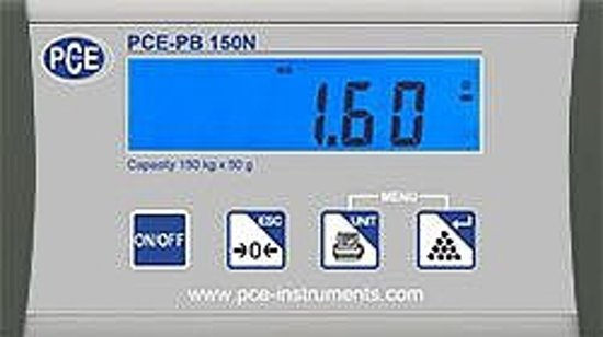 Platformweegschaal PCE-PB 150N
