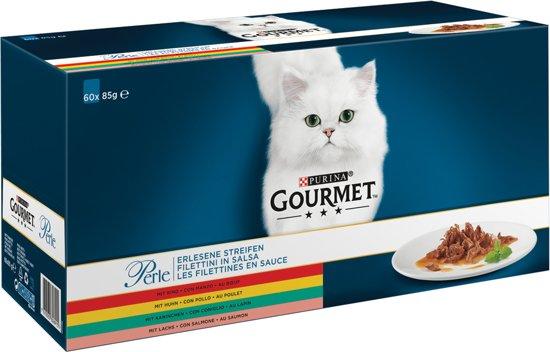 Gourmet Perle Mini Filets - Kip, Konijn, Rund, Zalm - (60 x 85 gr)